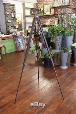 Vintage Camera Tripod Johnsons of Hendon Wooden Legs + Mount Antique Wood