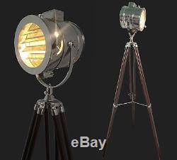 Vintage Chrome Finish Tripod Lamp for Bedroom, Living Room Office Pub Restaurant