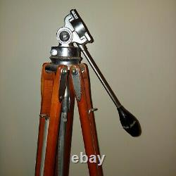 Vintage Craig Thalhammer Wood/Chrome Camera Tripod EUC