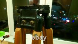 Vintage Dietzen transit wooden tripod used for surveying/photography