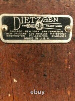Vintage Dietzgen Land Survey Transit Level in Wooden Case & Surveyors Tripod