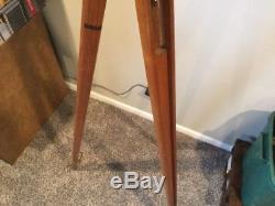 Vintage Dietzgen Tripod 59 Wooden Legs 8 Thread 3 1/2