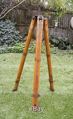 Vintage Dietzgen Wooden Brass Surveying Transit