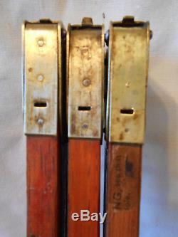 Vintage Eastman Kodak Collapsable Feather Wooden Tripod, All Brass Fittings