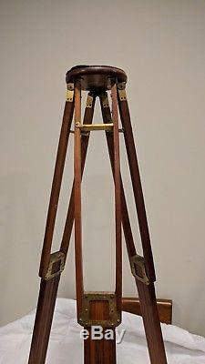 Vintage Folmer Graflex Crown No. 1 Adjustable Tripod 54 Tall