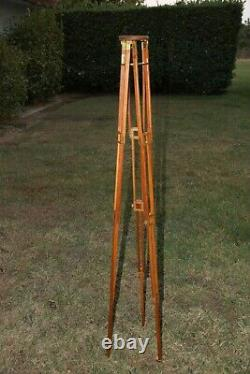 Vintage Folmer Graflex Crown No. 1 Kodak Wood Tripod Portable Brass Fittings