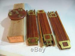 Vintage Folmer Schwing Graflex Camera Wood & Brass Tripod Crown No 2 WithBox