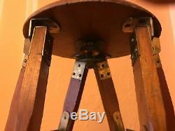 Vintage Folmer & Schwing Kodak Wooden & Brass Camera Tripod