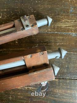 Vintage GIB Wooden and metal adjustable tripod for camera or lighting