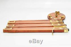 Vintage Graflex Tripod Wood Wooden Brass #488