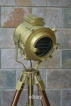Vintage Hollywood Studio Floor Lamp Searchlight Spot Light With Tripod Stand