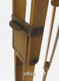 Vintage Ica Dresden Holzstativ Wooden Tripod Stativ 1920th 43 cm 126 cm tz018