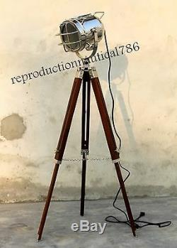 Vintage Industrial Designer Spot Light Vintage Marine Tripod Studio Searchlight