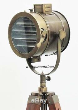 Vintage Industrial Style Movie Spot Light Floor Standing Tripod Lamp