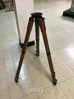 Vintage K&E Wood Camera/Surveyor Adjustable Height Tripod to approx. 58