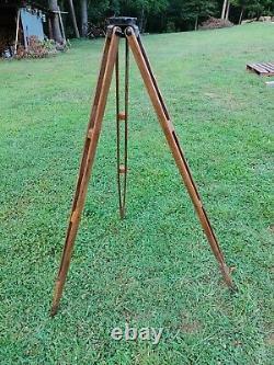 Vintage Keuffel & Esser K & E Wooden Surveyor Tripod Made in USA