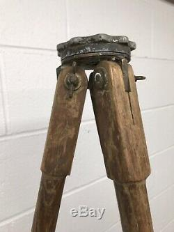 Vintage Keuffel & Esser (K&E) Wooden Transit/Theodolite Tripod 5 Ft Tall