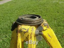 Vintage Keuffel Esser Wooden Tripod and Telescoping Elevation Rod