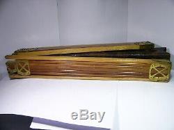 Vintage Kodak Feather Tripod, wood legs/brass fittings + original case