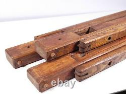 Vintage Large Oak Heavy Wooden Tripod Camera Thornton Pickard Sanderson Etc M