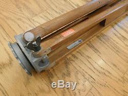 Vintage Lietz Wooden Transit/Theodolite Fixed Leg Tripod 60 steampunk/lamp 1B