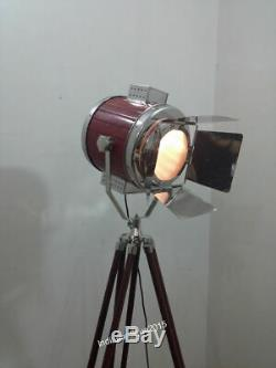 Vintage Marine Floor Lamp, Nautical Spot Studio &Tripod Floor Lamps Search light