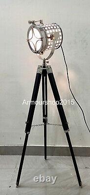 Vintage Marine Nautical Spot Studio Search light Floor Lamp Tripod Floor Lamps