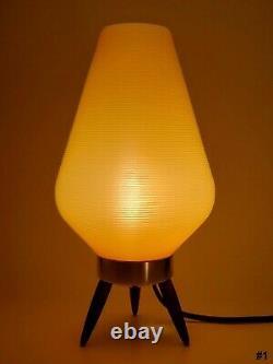 Vintage Mid-Century Modern (Beehive) Tripod Table Lamp 1960s #1