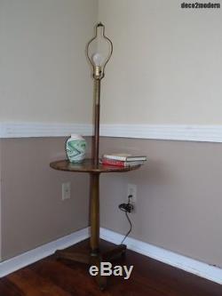 Vintage Mid Century Modern Floor Lamp Table Tripod Base Pole Light Mcm Retro