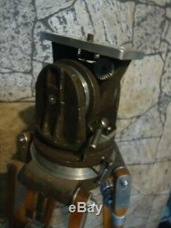 Vintage Movie Camera Tripod National Cine Equipment Co. Beautiful Used Cond