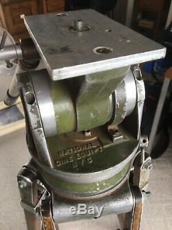 Vintage NCE Fluid Head Wooden Tripod Heavy Duty Professional