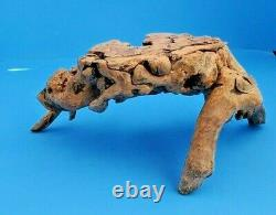 Vintage Natural Burl Wood Root Carving Tripod Bonsai Or Display Stand 5 H