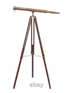 Vintage Nautical Design Nautical Telescope With Tripod Stand Watching Brass