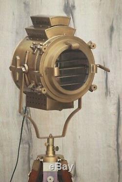 Vintage Nautical Spotlight Tripod Floor Lamp