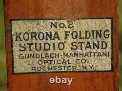 Vintage No. 2 Wood Korona Folding Studio Tripod Stand