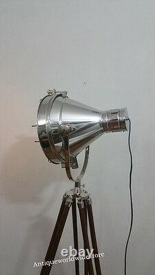 Vintage Old Strand Film Movie Theater Stage Lamp Light Tripod Lamp / Light