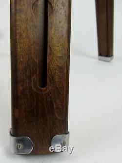 Vintage PANRITE Wooden Wood Camera Tripod w Universal Head Beautiful & Stylish