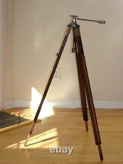 Vintage PANRITE Wooden Wood Camera Tripod with Universal Head Nice