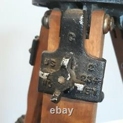 Vintage RIES HOLLYWOOD Tri-Lock Wooden Tripod No. 1200 Model C