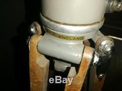 Vintage Rare Wooden & Aluminium W. P. P Camera Tripod