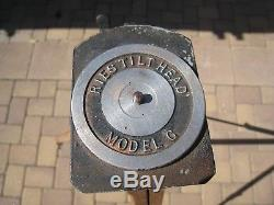 Vintage Ries Camera Co, Hollywood CA, Tilt Head Model G & Wood Tripod