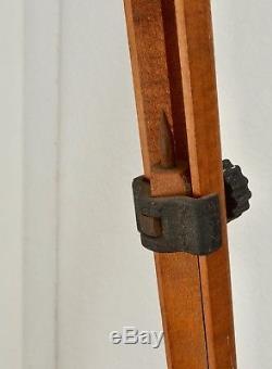 Vintage Ries La Empire Devices Wood C Tripod Surveyor Camera Steampunk Mod
