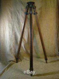 Vintage Ries Model C Tri Loc Wood tripod Photography. Industrial Lamp, Lighting