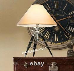 Vintage Royal Marine Black Tripod Table Lamp Stand