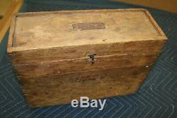 Vintage STARRETT Transit 99F, Wooden Case, Plumb Bob & Starrett TriPod