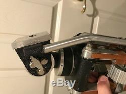 Vintage Senior Miller Head Adjustable Wood Tripod Fluid Action Head Tri pod