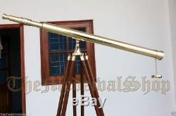Vintage Style Collectible Brass Marine Tripod Telescope Port Island Antique