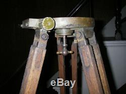 Vintage Surveyor's Tripod, wooden tripod, US Military, WWII, Korea, Vietnam
