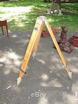 Vintage Surveyors Industrial Tripod for Use as MCM Floor Lamp Base