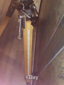 Vintage TRB Theodore R Bromwell wooden tripod wood